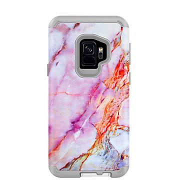 voordelige Galaxy S-serie hoesjes / covers-hoesje Voor Samsung Galaxy S9 / S9 Plus Schokbestendig / Waterbestendig Achterkant Marmer / Kleurgradatie PC
