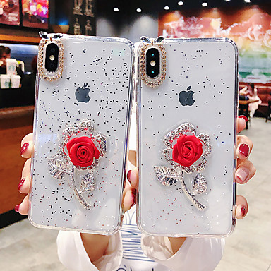 voordelige iPhone 7 hoesjes-hoesje Voor Apple iPhone XS / iPhone XR / iPhone XS Max Stofbestendig / Patroon Buideltas Bloem TPU