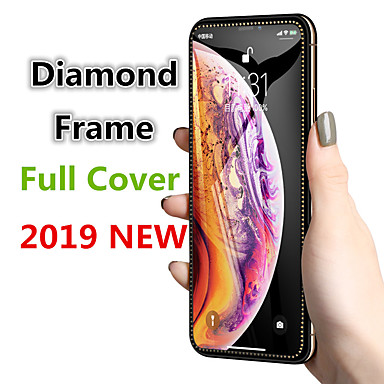 Недорогие Защитные плёнки для экрана iPhone-алмазное защитное закаленное стекло на iphone xs xr x 10 Защитная пленка для экрана изогнутая кромка для iphone xr xs max