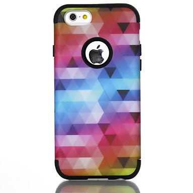 voordelige iPhone-hoesjes-hoesje Voor Apple iPhone 7 / iPhone 6 Schokbestendig Achterkant Lijnen / golven / Geometrisch patroon / Kleurgradatie TPU / PC