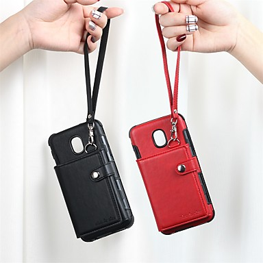 cheap Cell Phone Cases-Case For Samsung Galaxy Galaxy M20(2019) / Galaxy M30(2019) Card Holder / Shockproof Back Cover Solid Colored TPU
