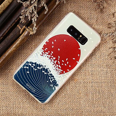 cheap Cell Phone Cases-Case For Samsung Galaxy Waterproof / Dustproof / Pattern Back Cover Sexy Lady / Scenery TPU