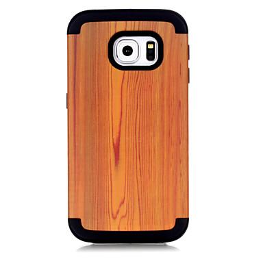 voordelige Galaxy S-serie hoesjes / covers-hoesje Voor Samsung Galaxy S7 edge Schokbestendig Achterkant Houtnerf / Geometrisch patroon / Kleurgradatie TPU / PC