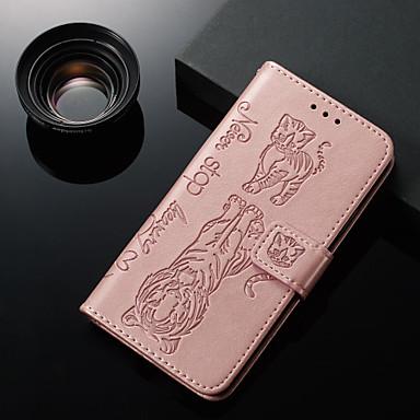 Недорогие Кейсы для iPhone-чехол для яблока iphone xs / iphone xr / iphone xs max кошелек / визитница / с подставкой для всего тела кошка / животное искусственная кожа x 8 плюс 7 плюс 6 плюс 8 7 6s