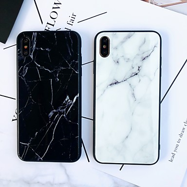 voordelige iPhone 7 hoesjes-hoesje Voor Apple iPhone XS / iPhone XR / iPhone XS Max Spiegel / Ultradun Achterkant Marmer TPU