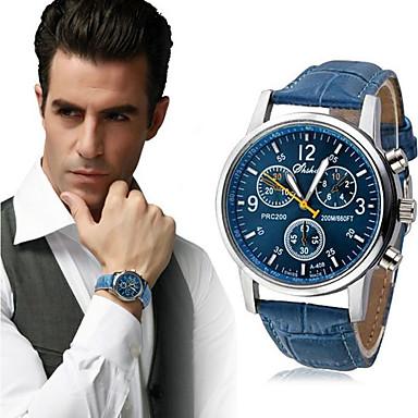 ieftine Ceasuri Bărbați-Bărbați Ceas de Mână Aviation Watch Quartz Piele Piele PU Matlasată Negru / Alb / Albastru Ceas Casual Analog Clasic Casual - Negru Negru / Alb Alb Un an Durată de Viaţă Baterie