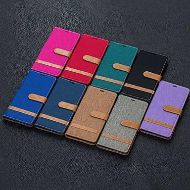 voordelige Galaxy Note-serie hoesjes / covers-hoesje Voor Samsung Galaxy Note 9 / Note 8 / Galaxy Note 10 Portemonnee / Kaarthouder / Schokbestendig Volledig hoesje Tegel PU-nahka
