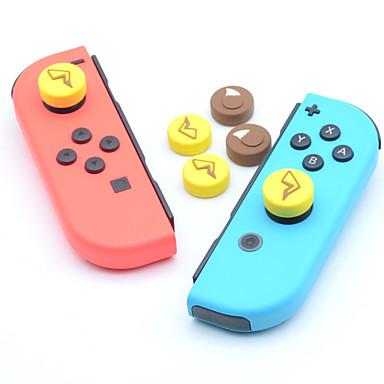 olcso Videojáték tartozékok-Játék kiegészítők készletei Kompatibilitás Nintendo Switch ,  Szeretetreméltő Játék kiegészítők készletei Teljes test szilikon 4 pcs egység