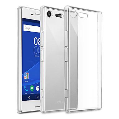 voordelige Hoesjes / covers voor Sony-hoesje Voor Sony Sony Xperia XZ Premium Stofbestendig / Ultradun / Transparant Achterkant Effen TPU