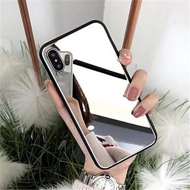 voordelige iPhone-hoesjes-luxe glazen behuizing voor Apple iPhone 6 7 8 plus x xs xr hoes 7plus 8plus 6g 6s x xs plating spiegel glanzend gsm-hoesje