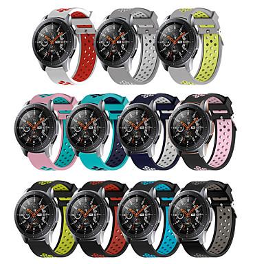voordelige Horlogebandjes voor Samsung-22 mm siliconen polsband voor Samsung Galaxy Watch 46 mm versnelling S3 Frontier Classic Horloges Band ademende armband