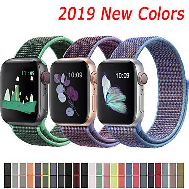 voordelige Smartwatch-accessoires-nylon band voor Apple horlogeband 44 mm 40 mm 42 mm 38 mm sport lus armband armband voor Apple Watch serie 5/4/3/2/1 accessoires