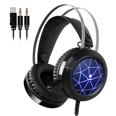 voordelige Gaming-oordopjes-nubwo n1 gaming hoofdtelefoon diepe basgame headset oortelefoon bedraad met microfoon spraakbesturing led licht voor computer pc promot
