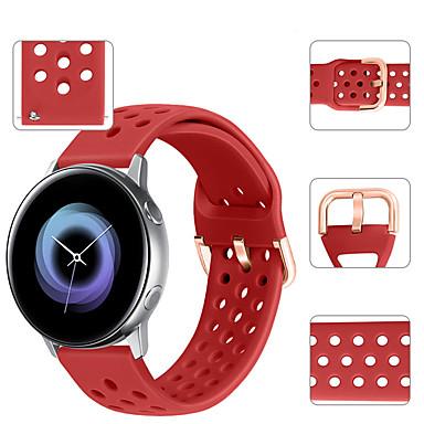 voordelige Horlogebandjes voor Samsung-sport siliconen horlogeband polsband voor Samsung Galaxy Watch actief / Galaxy Watch 42 mm / versnelling sport / versnelling s2 klassieke armband vervangbare armband