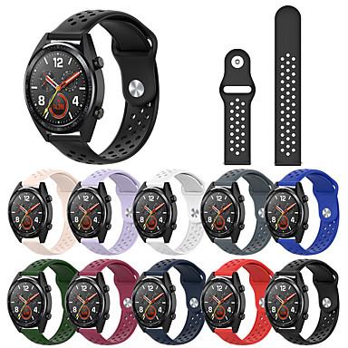 voordelige Horlogebandjes voor Samsung-sport ademende siliconen horlogeband accessoires 20 mm voor samsung horloge 42 mm / galaxy actief / versnelling sport / versnelling s2 classic release polsband