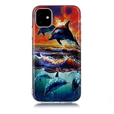voordelige iPhone 5 hoesjes-hoesje Voor Apple iPhone 11 / iPhone 11 Pro / iPhone 11 Pro Max IMD / Ultradun / Patroon Achterkant Landschap / dier TPU