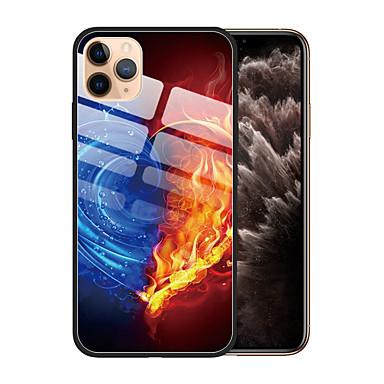 voordelige iPhone 6 Plus hoesjes-hoesje Voor Apple iPhone 11 / iPhone 11 Pro / iPhone 11 Pro Max Stofbestendig / Patroon Achterkant Kleurgradatie TPU / Gehard glas