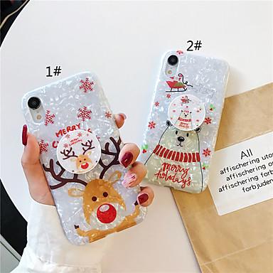 voordelige iPhone 7 hoesjes-hoesje Voor Apple iPhone 11 / iPhone 11 Pro / iPhone 11 Pro Max met standaard / Patroon / Glitterglans Achterkant Cartoon / Kerstmis TPU