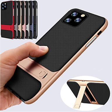 voordelige iPhone X hoesjes-schokbestendige hybride siliconen zachte TPU-hoes voor iPhone 11 pro / iphone 11 / iphone 11 pro max harde pc bumper standaard hoes voor iphone xs max xr xs x 8 plus 8 7 plus 7 6 plus 6