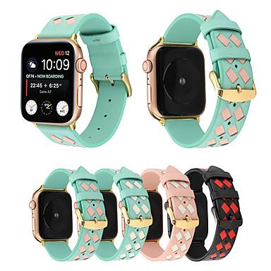voordelige Apple Watch-bandjes-2019 geweven lederen armband voor Apple Watch-band 42 mm / 44 mm / 38 mm / 40 mm voor Apple iwatch-band serie 4 3 2 1 band