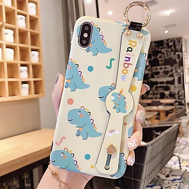 voordelige iPhone X hoesjes-hoesje Voor Apple iPhone 11 / iPhone 11 Pro / iPhone 11 Pro Max Schokbestendig / met standaard / Ringhouder Achterkant Tegel / Woord / tekst / Cartoon TPU