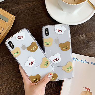 voordelige iPhone-hoesjes-hoesje Voor Apple iPhone XS / iPhone XR / iPhone XS Max Ultradun / Patroon Achterkant Transparant / Cartoon TPU