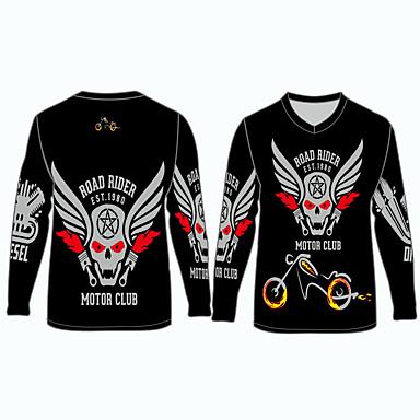 voordelige Motorjacks-road rider motorclub motorkleding shirts tops jersey voor unisex polyester / polyamide ademend / snel droog