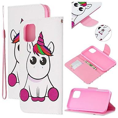 voordelige iPhone 6 hoesjes-hoesje Voor Apple iPhone 11 / iPhone 11 Pro / iPhone 11 Pro Max Portemonnee / Kaarthouder / met standaard Volledig hoesje dier PU-nahka