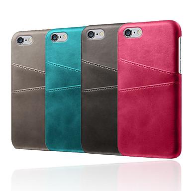 voordelige iPhone X hoesjes-hoesje voor Apple iPhone XR / iPhone XS Max schokbestendige achterkant Effen zacht TPU / PU-leer voor iPhone 5 / 5e / 5s / 6 / iPhone 6 plus / 7 / 7pius / 8 / 8pius / x / xs