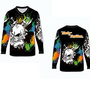 voordelige Motorjacks-harley davidson motorkleding shirts tops jersey voor unisex polyester / polyamide ademend / snel droog