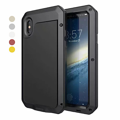 voordelige iPhone X hoesjes-hoesje Voor Apple iPhone XS / iPhone XR / iPhone XS Max Water / Dirt / Shock Proof Volledig hoesje Schild Hard Aluminium