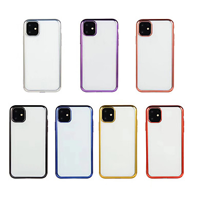 voordelige iPhone 6 hoesjes-hoesje voor Apple iPhone 11 / iPhone 11 Pro / iPhone 11 Pro Max Plating / Ultradunne / Transparante Achterkant Transparante TPU