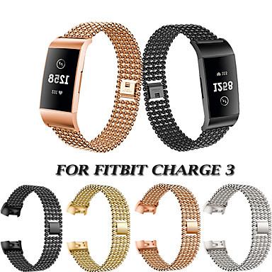 voordelige Smartwatch-accessoires-horlogeband polsband voor fitbit charge 3 metalen roestvrijstalen snelsluiting armband polsband