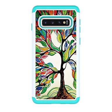 voordelige Galaxy S-serie hoesjes / covers-hoesje Voor Samsung Galaxy S9 / S9 Plus / S8 Plus Schokbestendig / Patroon Achterkant Boom PU-nahka
