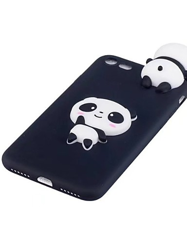 cheap iPhone Cases-Case For Apple iPhone X Shockproof Back Cover 3D Cartoon / Panda Soft TPU for iPhone X / iPhone 8 Plus / iPhone 8
