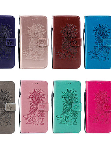 levne Yeni Gelenler-Carcasă Pro Apple iPhone XR / iPhone XS Max Peněženka / Pouzdro na karty / se stojánkem Celý kryt Ovoce / Květiny Pevné PU kůže pro iPhone XS / iPhone XR / iPhone XS Max