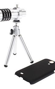 12X 망원 렌즈, 삼성 갤럭시 S4 I9500와 S3 I9300를위한 단단한 상자 및 방어적인 부대
