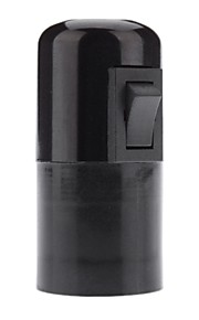 E27 bakelitt Base pære fatning Lampe Holder med kontakt