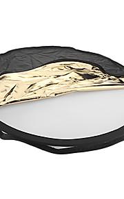 80 centímetros 5-em-1 dobrável redonda flash refletor painel VFS-145538 para Câmera