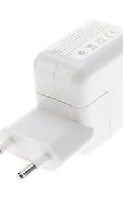 EU Typ USB-adapter för iPad / iPhone (Vit)