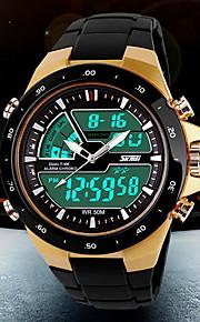 SKMEI Herre Quartz Digital Japansk Quartz Digital Watch Armbåndsur Sportsur Alarm Kalender Kronograf Vandafvisende Dobbelte Tidszoner LCD