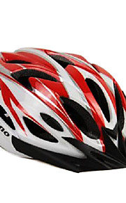 acrono 22 פתחי אוורור קסדת רכיבה על אופניים אינטגרלי יצוק אדום לבן (57-62cm)