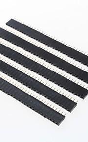 GDW AZ13 40-Pin 2.54mm Pitch Pin Headers - Black (5 PCS)