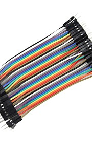 DIY 1-Pin Male to Male DuPont Breadboard Jumper Wires (40 PCS/10cm)