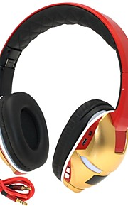 Hi-Fi Iron Man 3.5mm TF Card Slot Foldable Bass Music Stereo Wireless Bluetooth Headphone with Mic TF FM AUX