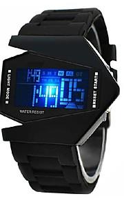 Spersonalizowane Prezent Zobacz, Alarm / Chronograf / LED Kwarc Zobacz z Stop Materiał obudowy Silikon Pasmo Zegarek sportowy Wodoodporność Głębokość