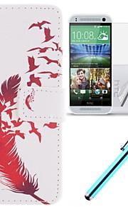 용 HTC케이스 카드 홀더 / 지갑 / 스탠드 / 플립 케이스 풀 바디 케이스 깃털 하드 인조 가죽 HTC