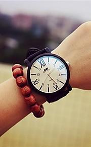 Mulheres Relógio de Moda Quartzo Couro Banda Preta Branco Preto