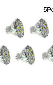 5pcs 4 W 450 lm GU4(MR11) LED-spotlights 12 LED-pärlor SMD 5730 Varmvit / Naturlig vit 12 V / 5 st