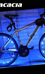 Cykellys hjul lys LED - Cykling Farveskiftende Cellebatterier 400 Lumen Usb Batteri Cykling - Acacia